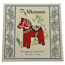 Kingsburg Swedish Village Tile Valkommen With Dala Horse