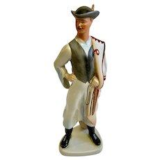 Hungarian Cowboy Man Figurine Aquincumi Hungary Porcelain