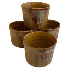 Sango Ramekins Splash Bakeware Brown Drip Glaze