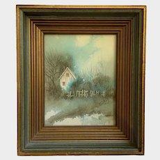 Mary Ann Aupperle, Country House Acrylic Painting