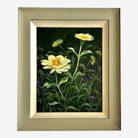 Rita Salazar Dickerson, Garden Flowers Oil Painting