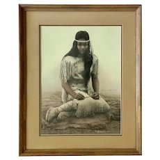 James Bama, Little Star Native American Navajo Indian Girl Limited Edition Print