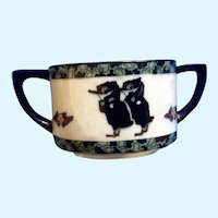 Royal Doulton Sugar Bowl Black Bird Crows (1923-1927) Made in England