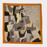 Vintage Picasso Silk Scarf Large Square Circa 1980s