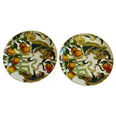 Dragon Foo Dogs Plates New Moon by Williams-Sonoma