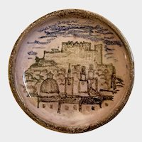 Jerusalem Dish Hand Thrown And Hand Painted 1952