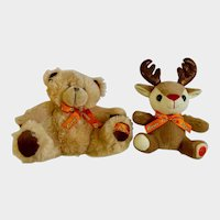Reese's Peanut Butter Cups Candy Christmas Bear and Deer Plush Stuffed Animals