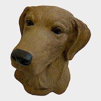 Golden Retriever Hunting Dog Bust Sculpture Figurine Aus-Ben Studio