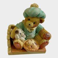 Enesco Cherished Teddies I'm Plum Happy You're My Friend Figurine 1993