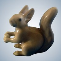 Bing & Grondahl Squirrel Figurine B&G #2177 Holding an Acorn Marked Copenhagen