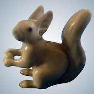 Bing & Grondahl Squirrel Figurine B&G #2177 Holding an Acorn Marked with the Three Royal Towers of Copenhagen Retired