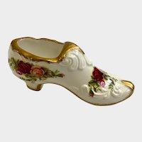 Royal Albert Bone China Shoe Old Country Roses England