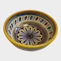Assisi Del A. Mano Vintage Italian Bowl Hand Painted Italy Pottery
