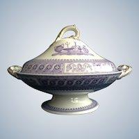 Mayer & Elliot Serving Dish Ironstone 'Etruscan Vases' 1858 -1861 England Transferware