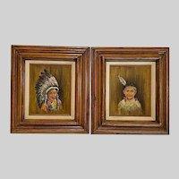 M K Finn, Two Little Indian Children Oil Paintings