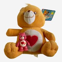 """Care Bears Tenderheart 2003 Characters From Cleveland Stuffed Plush Teddy Animal 10"""""""
