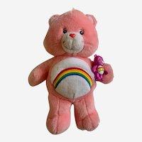 "Care Bear Talking Cheer TCFC Stuffed Plush Animal 13"" 2003"