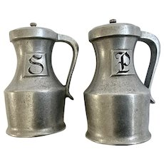 Vintage Wilton RWP Armetale Pewter Salt & Pepper Shakers Made in USA