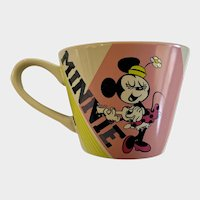 Disney Store Minnie Mouse Playing the Ukulele Large Coffee Cup