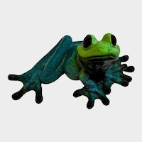 Extra Large Kitty's Critters Frog Katrina Blue and Green Figurine
