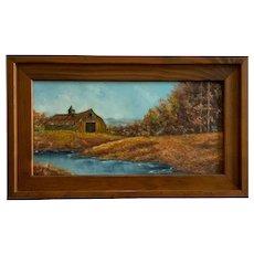 Doris Taylor, Autumn Barn Landscape Oil Painting Kentucky Artist