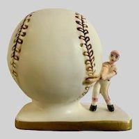 Mid-Century Baseball Baby Planter Figurine Inarco E-1311