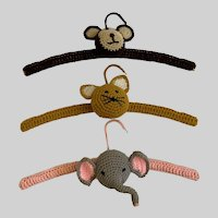 Knitted Animal Hangers For Children's Clothing Closet