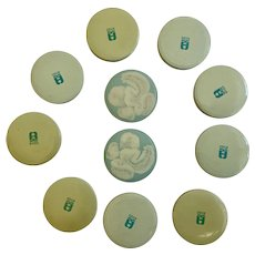 1938 Avon Powder Sample Tins Group 11 Pieces