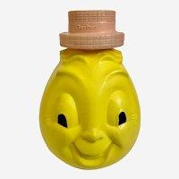 Mid-Century Gerber Lemon Wobble Head Hard Plastic Baby Toy