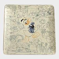Disney Studio Collection Donald Duck Square Plate Disney Store