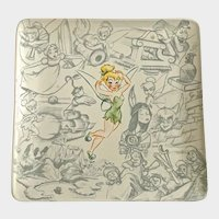 Disney Studio Collection Tinker Bell From Peter Pan Square Plate Disney Store