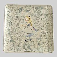 Disney Studio Collection Alice in Wonderland Square Plate Disney Store
