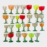 27 Miniature Clear Acrylic Glasses Dollhouse Size