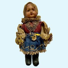 Vintage Circa 1940s SLIP Slovak Home Industry Czech Doll