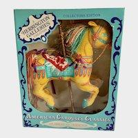 American Carousel Horse Classics Herrington Galleries Collectors Edition 1993 Yellow