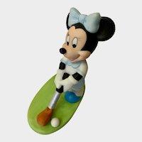 Adorable Disney Minnie Mouse Golfing Ceramic Figurine