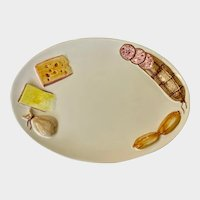Italian Meat and Cheese Serving Platter Relief Plate Italy