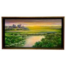 Gadziala, Illuminating Pond Landscape Oil Painting