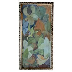 G Gay, Mid-Century Floral Still Life Oil Painting