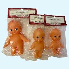 Vintage Kewpie Dolls Standing Rubber Baby Cuties Fibre Craft NIB