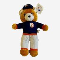 Boy's Vintage Teddy Bear San Diego Padres MLB Baseball Plush Stuffed Animal