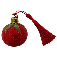 Vintage Christborn Tomato Made In Germany Glass Vegetable Ornament