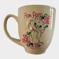 Disney Marie Aristocats Paris Animation Ceramic Mug from the Epcot Showcase