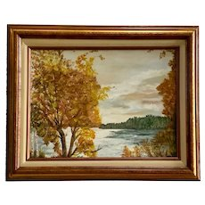 Theda Royall, The Potomac River in Autumn Oil Painting