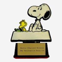 Snoopy & Woodstock Peanuts Aviva Excuse For Not Writing Figurine 1970