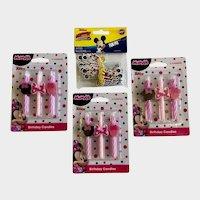 Disney Jr. Minnie Mouse Birthday Cake Candles & Mickey Cupcake Picks Group