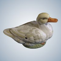 Duck Soup Tureen Meiselman Imports Mid-Century Made in Italy LARGE Fine Porcelain Pottery