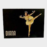 Vintage Mid-Century Diana Stocking Empty Ballerina Girl Cardboard Box