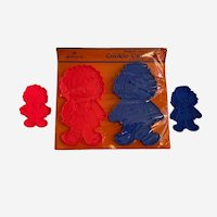 Vintage Hallmark Raggedy Ann & Andy Cookie Cutters Two Sizes