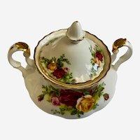Royal Albert Old Country Roses Sugar Bowl with Lid